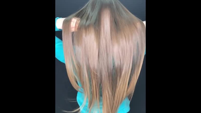Это такие длинные волосы что не влезают в экран ⠀ Диана ходит ко мне ровно 2 года!! ⠀ Хотите выложу пост и покажу какие у н