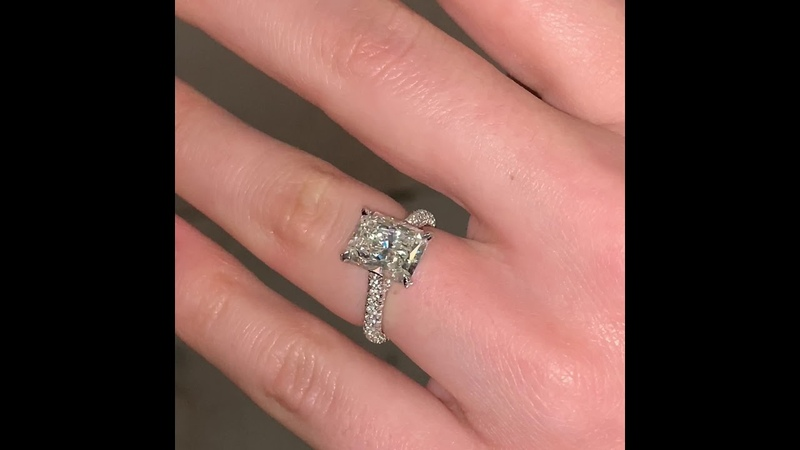 Grand Central Proposal: 3ct Radiant Cut Diamond Ring