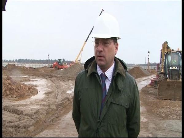 Стройка в разгаре фундамент нового ФОКа в Угличе почти уложен