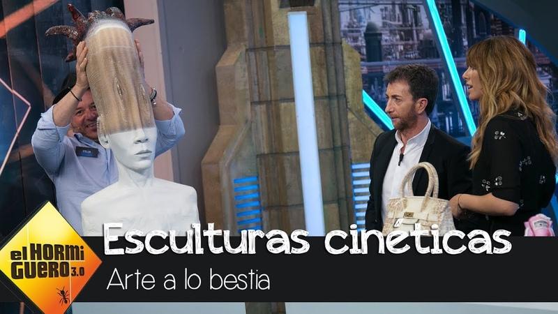 Blanca Suárez alucina con las esculturas cinéticas de Félix Semper - El Hormiguero 3.0