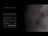 24 часа на Луне: визуализация смены дня и ночи на спутнике Земли