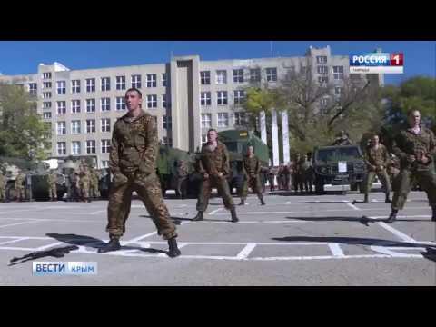 В Симферополе на базе крымского соединения войск Росгвардии прошёл день призывника