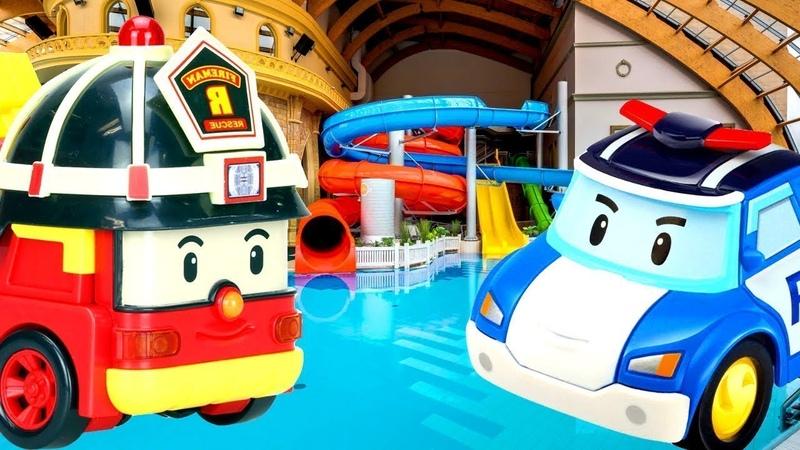 Robocar Poli giochi nella piscina per bambini. Nuovi episodi