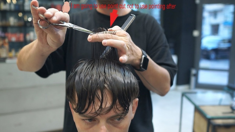 Short wavy hair, men's haircut tutorial