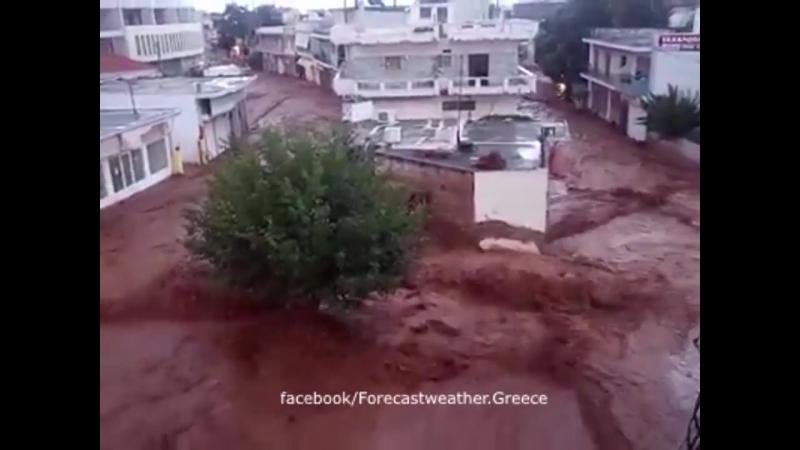 Сatastrophic flood in Mandra, Greece, june 26, 2018 ¦ Наводнение в Мандре, Греция, 26.06.2018