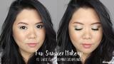 Fun Summer Makeup ft. Tarte Clay Pot Mint Liner Kirei Makeup