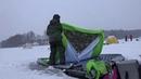 лотос куб 4 термо гидродно или первый выезд на первый лед с новой палаткой