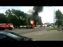 Пожарного снесло взрывной волной от горящего экскаватора Тамбов
