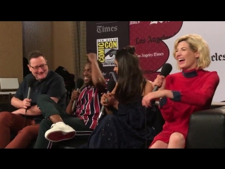 The cast of @DoctorWho_BBCA joke how the show is