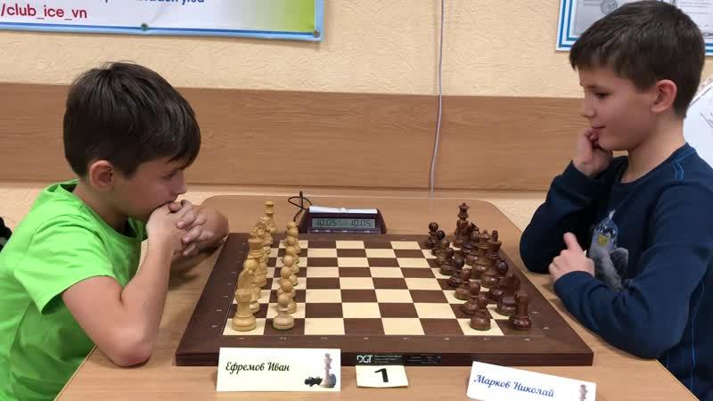 2018.11.10 (Б) Субботний рапид. Ефремов,Иван — Марков,Николай (0-1).