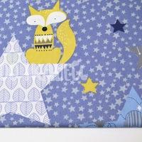 e746971187e Звезды большие медведи и лисы на темно-синем в белый горошек КИТ 125г м2  шир. 160см