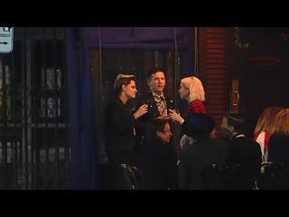 """Kristen stewart  girlfriend sara dinkin out for drinks following _""""jt leroy_"""" premiere"""