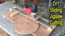 Amazing Woodworking DIY Sliding Jigsaw Cutting Station Smart Idea Woodworking Project