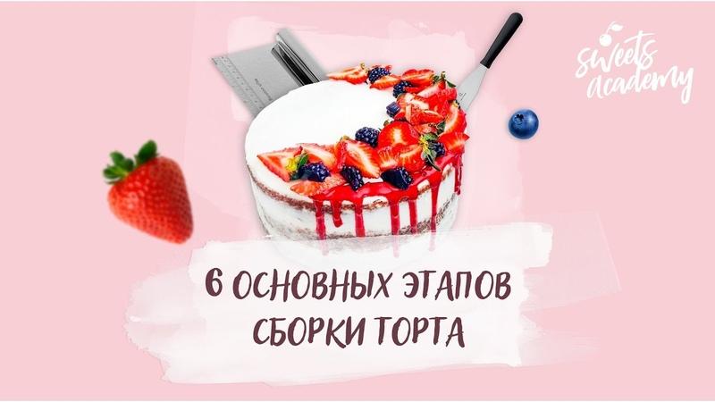 6 ОСНОВНЫХ ЭТАПОВ СБОРКИ ТОРТА | Sweets Academy