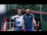 Гус Хиддинк посетил тренировку сборной России по футболу