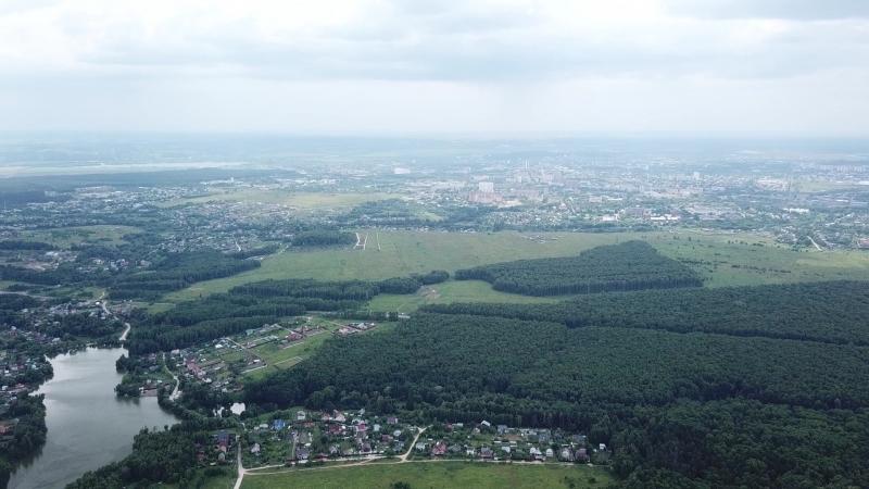 Серпухов и район с высоты птичьего полета