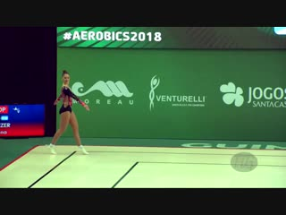 NANZER Daiana (ARG) - 2018 Aerobic Worlds, Guimaraes (POR) - Individual Women Qualifications