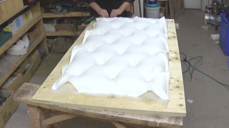 DIY- CRYSTAL TUFTED FURNITURE PIECE AS A BACKDROP - ALO Upholstery.mp4