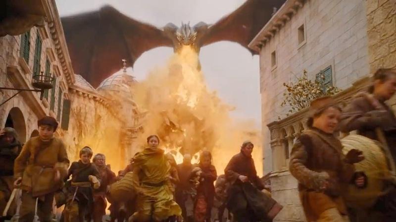 Daenerys Game of Thrones 8x05 The Bells Ring, Cersei Surrenders, Daenerys Destroys Kings Landing