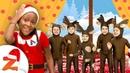 5 Little Reindeer Jumping on the Bed 🦌 Christmas Songs Nursery Rhymes