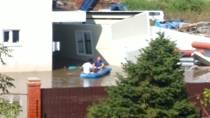 Наводнение в Уссурийске Район Пушкинского моста Сентябрь 2015г