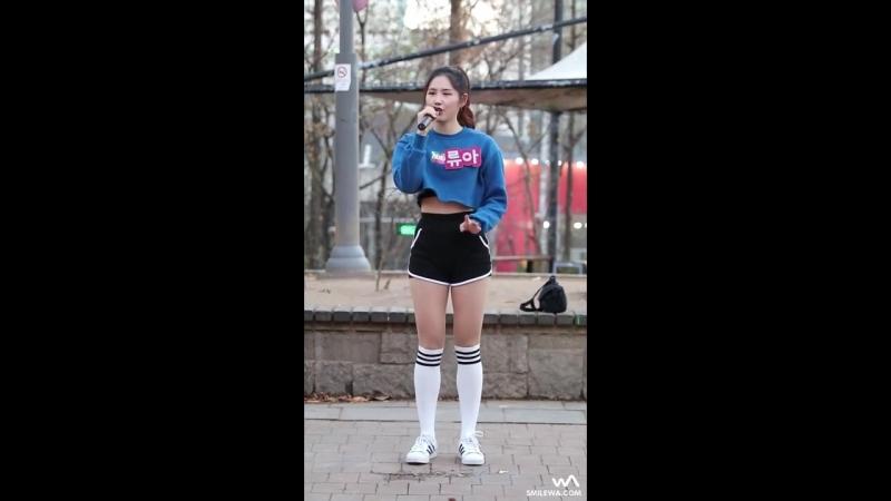 [fancam] Ryua - See Through (Kwon Jin Ah) @ Hongdae Busking 161201 -wA