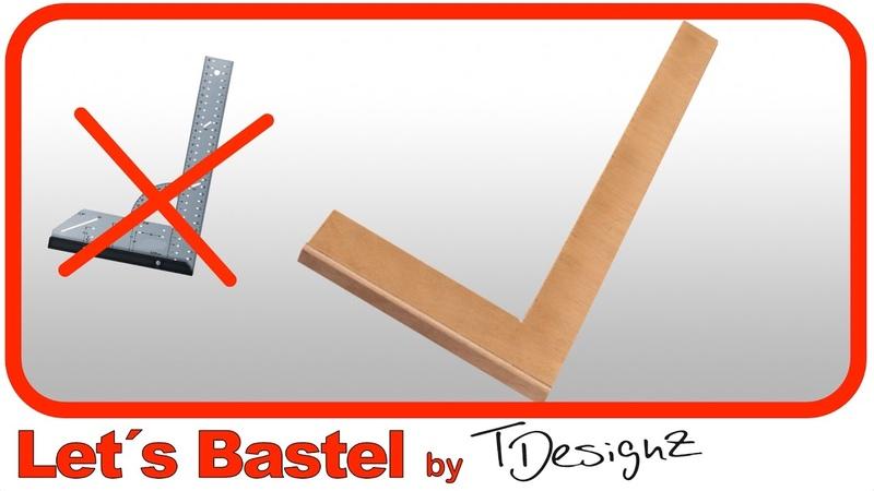 Genauen Anschlagwinkel aus Holz selber bauen Einfach und günstig selber Anleitung DIY