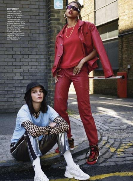 kendall jenner & imaan hammam vogue us magazine 11/2018