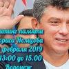 Митинг памяти Бориса Немцова. 24.02.2019