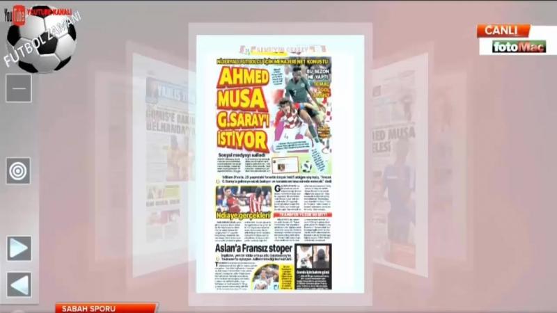 GALATASARAY Sabah Sporu ¦ Ahmet Musa, Ndiaye, Bacca, Gradel Yorumları 20 Haziran 2018