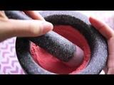 ASMR Mortar &amp Pestle Strawberry Powder