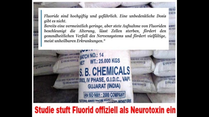 Studie stuft Fluorid offiziell als Neurotoxin ein