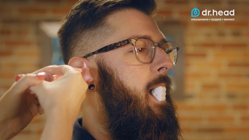 Изготовление кастомных наушников JH Audio процесс снятия ушных слепков