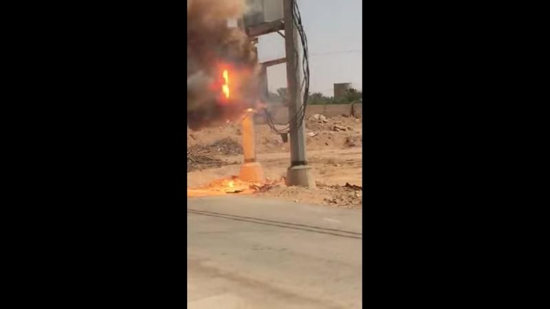 Трансформатор взорвался огнетушитель не помог