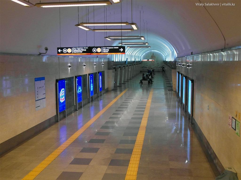 Станция Абая, алматинское метро 2018