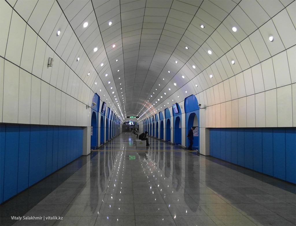 Станция Байконыр, алматинский метрополитен 2018