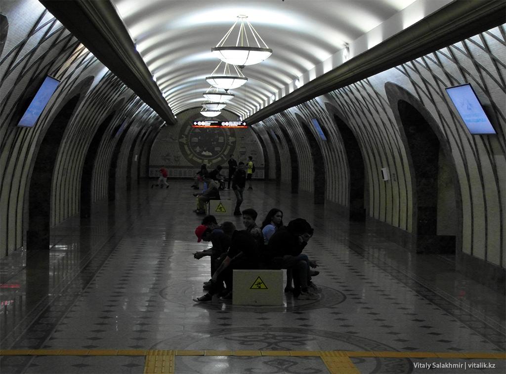 Обзор станции Жибек Жолы, метро Алматы 2018