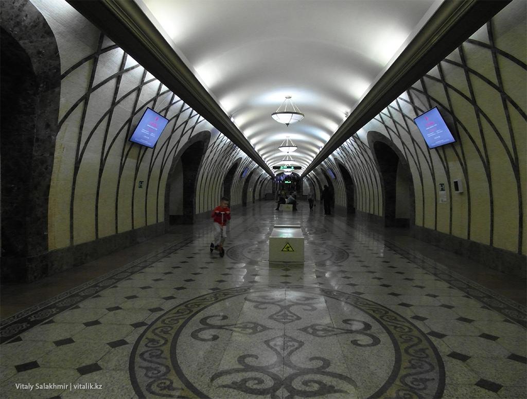 Рисунок на станции Жибек Жолы, Алматы 2018 Метро