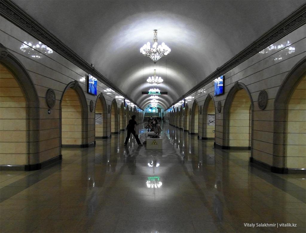 Станция Театр имени Мухтара Ауэзова, метро Алматы 2018