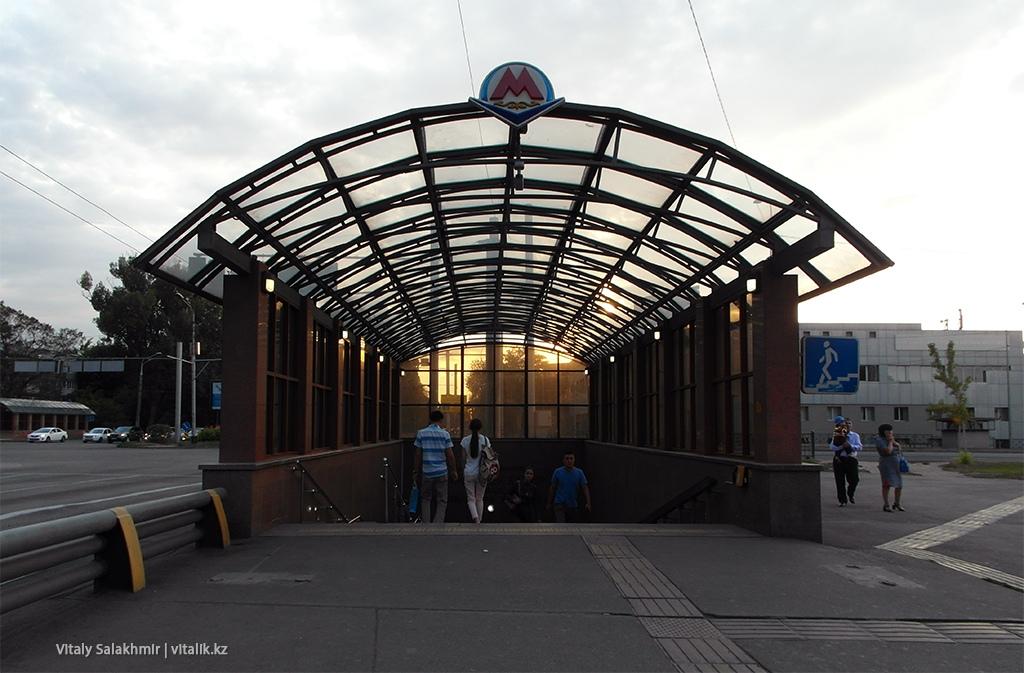 Станция Райымбек батыра снаружи, метро Алматы 2018