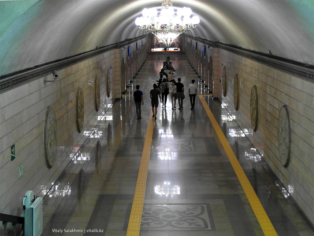 Обзор станции Театр имени Мухтара Ауэзова, метро Алматы 2018
