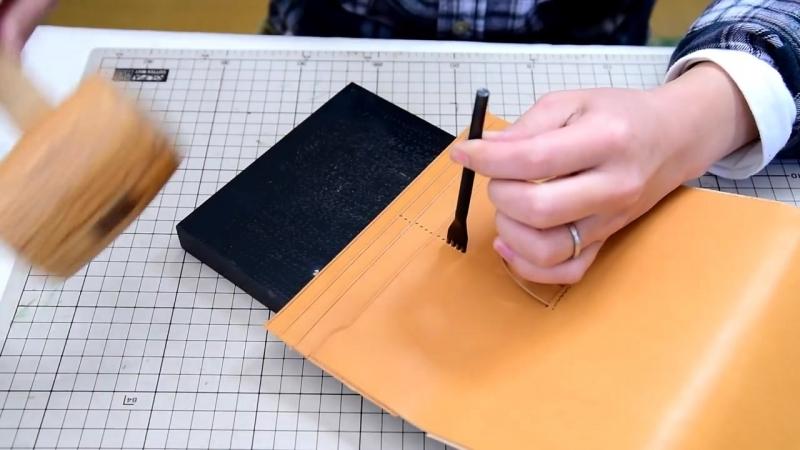 【レザークラフト】Making a Leather Long Wallet _差し込みベルト長財布の作り方