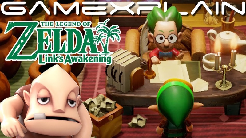 Visiting Mr Write Dampé Tal Tal Heights by Sequence Breaking in Zelda Link's Awakening Switch