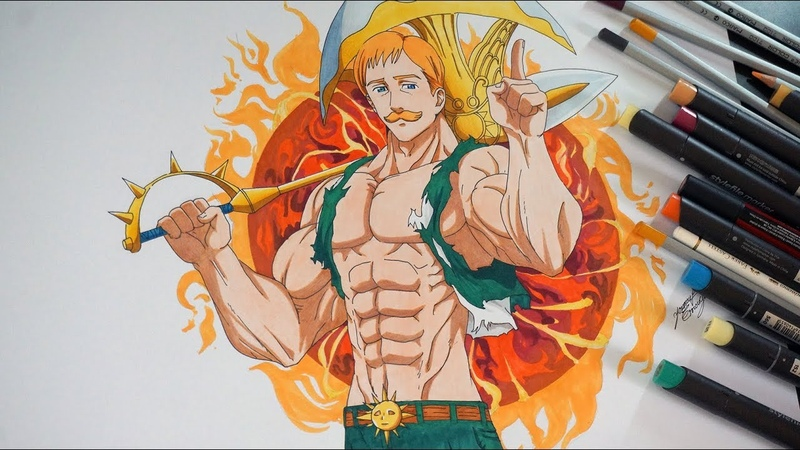 Drawing ESCANOR From The Seven Deadly Sins