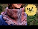 How to Loom Knit a Fall Scarf/Cowl with Tassels (DIY Tutorial)