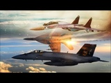 Sukhoi Su-35 Jets Intercept F-18 &amp F-15 Fighters Showing Them Who Is The