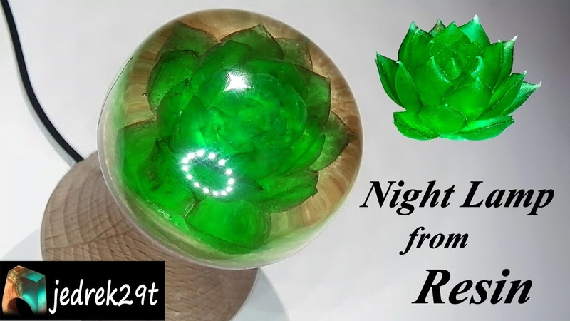 How to make Night Lamp from Resin Jak zrobić Lampkę Nocną z Żywicy