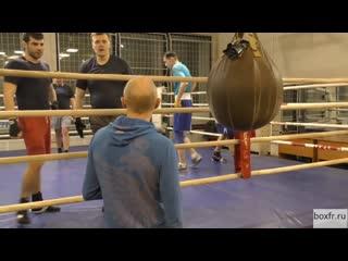 Школа бокса Алексея Фролова: разминочные упражнения перед спаррингами