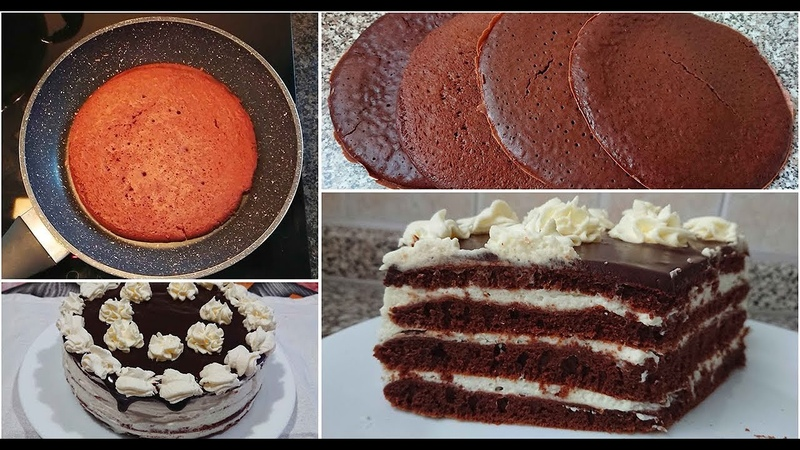 БЕЗ ДУХОВКИ. Шикарный торт за 30 минут! Бисквит на сковороде