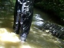 Waders 16 Walking and Emptying Flooded Dunlop Chest Waders